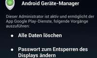 Screenshot Geräteadministration