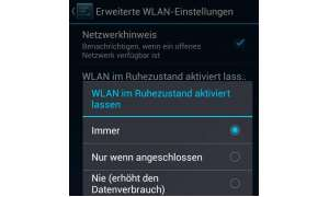 Screenshot WLAN-Einstellungen