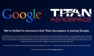 Titan Aerospace Screenshot nach Google Übernahme