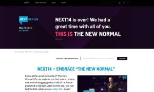 Homepage der Konferenz NEXT Berlin 2014