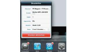 Apple AirPrint Druckinfos