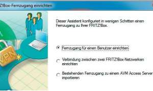 Fritzbox-Fernzugang Screenshot