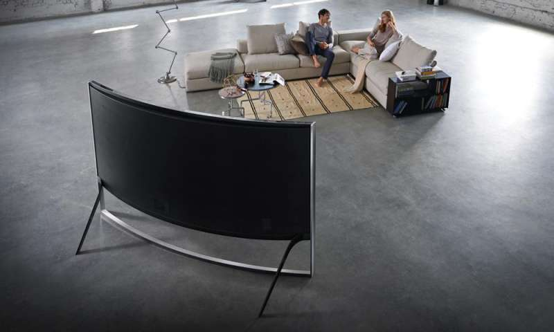 curved tv samsung ue105s9w im test pc magazin. Black Bedroom Furniture Sets. Home Design Ideas