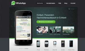 Screenshot von der Whatsapp-Homepage