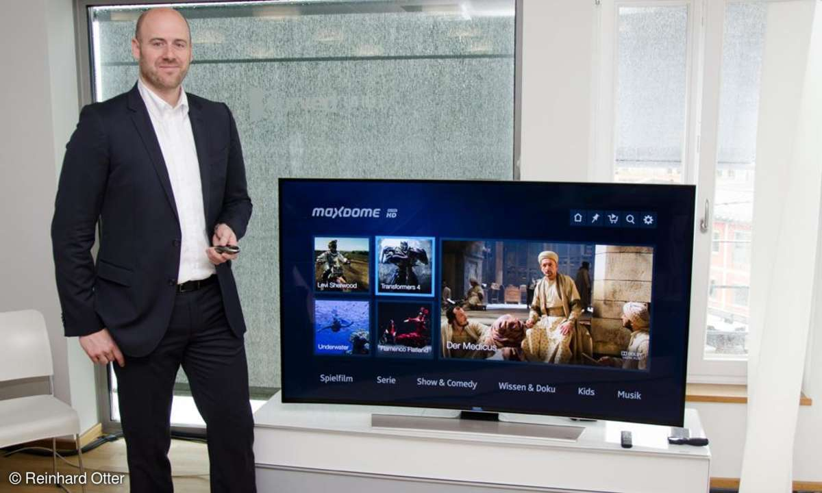 Andreas Heyden zeigt Maxdome UHD-Streaming