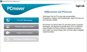 Screenshot vom PCmover