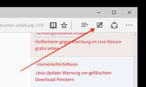 Microsoft Edge Webseitennotizen