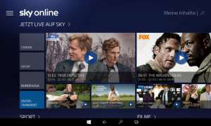 Sky Online für Windows-10-Tablets