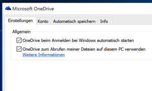 Windows 10 Dateien laden mit One Drive