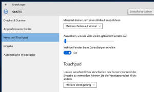 Windows 10 - Windows Einstellungen und Touchpads