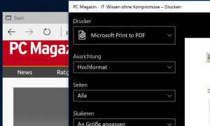 Windows 10 - PDF Drucker