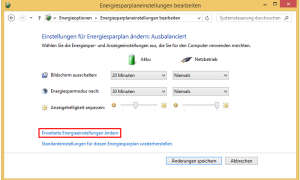 Windows Energiesparplan