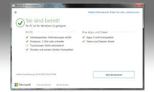 Windows 10 Systemaktualisierung