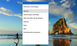 Windows 10 Dienste und Apps