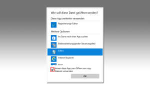 Windows - Standardprogramm festlegen