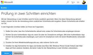 Screenshot OneDrive