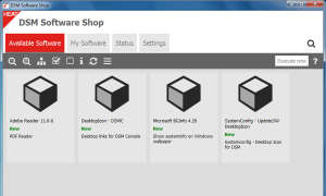 Screenshot: DSM-Software-Shop