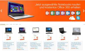 Notebook-Angebot mit Office 365