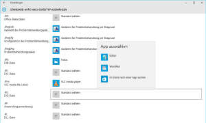 Windows 10 Standard Apps festlegen
