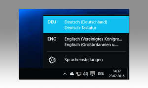 Windows 10 Tastaturlayout
