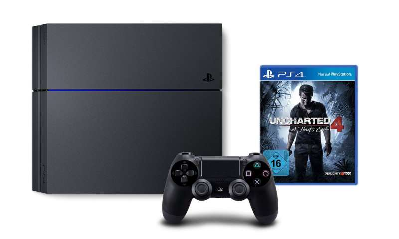 ps4 kaufen 1tb version mit uncharted 4 f r 369 euro im angebot pc magazin. Black Bedroom Furniture Sets. Home Design Ideas