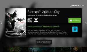 Batman Arkham City bei Geforce Now
