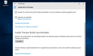 Windows 10 erweiterte Optionen