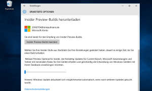 Windows 10 Insider Preview-Builds herunterladen
