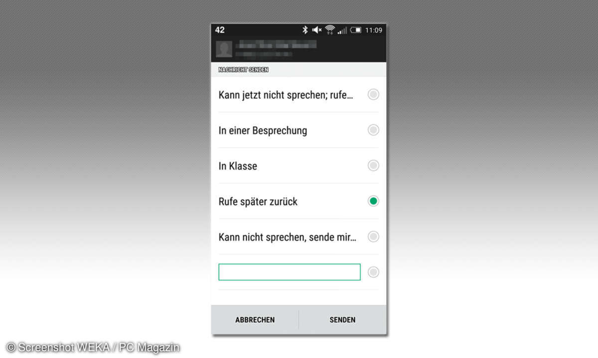 Android - Anrufe per SMS ablehnen
