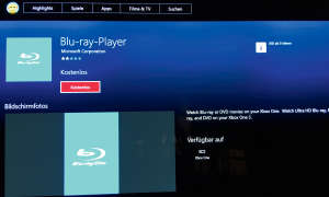 Screenshot: Blu-ray-Player