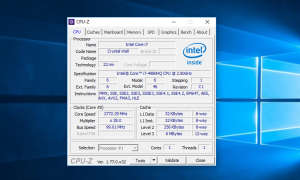 Screenshot: Windows CPU-Z