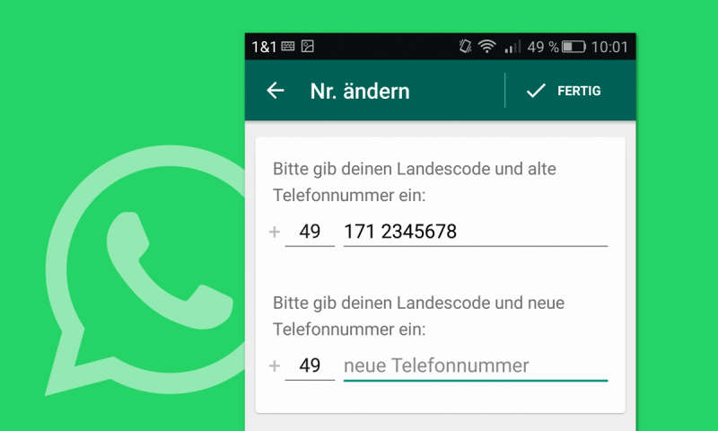 neues handy whatsapp