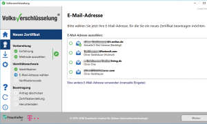 Screenshot: E-Mail-Adresse