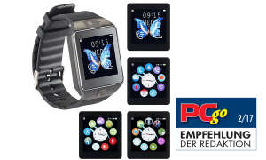 simvalley MOBILE Handy-Uhr/Smartwatch mit Kamera