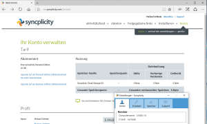 Screenshot: Syncplicity