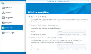 Synology LUN Typen