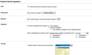Outlook Heute