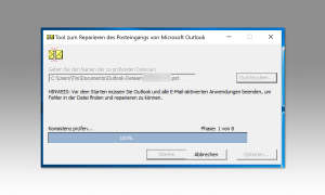 Tool zum Reparieren des Posteingangs on Microsoft office