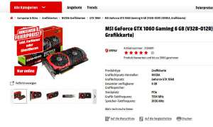 MSI Geforce GTX 1060 Gaming 6G