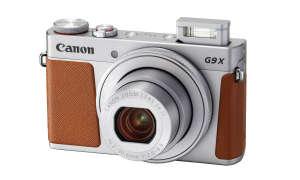 Canon Powershot G9 X Mark II silver flash up