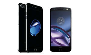 iPhone 7 Plus und Motorola Moto Z