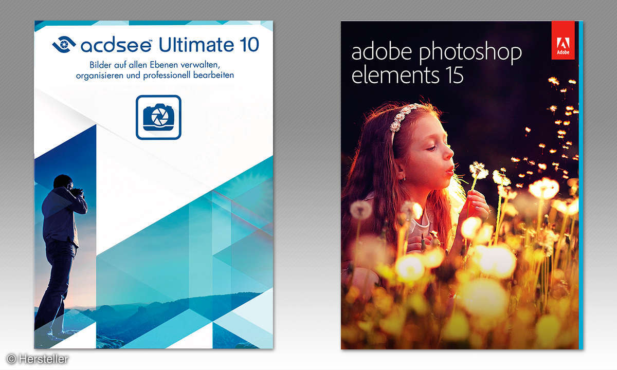 ACDsee Ultimate 10, Adobe PS Elements 15