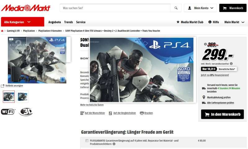 ps4 kaufen im media markt angebot destiny 2 bundle mit 2. Black Bedroom Furniture Sets. Home Design Ideas