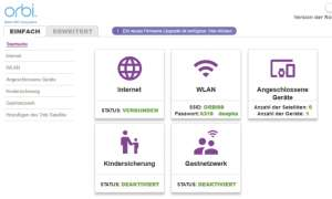 Netgear Orbi Update im Browser