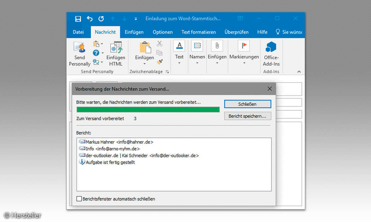 Outlook-Add-In Send Personally