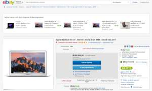 Ebay Angebot Apple MacBook Air