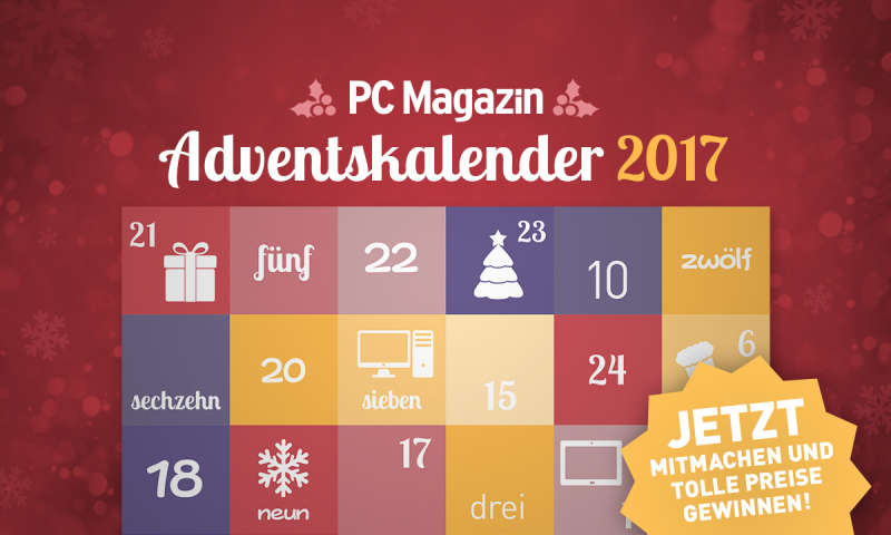adventskalender 2017 t glich tolle preise gewinnen pc. Black Bedroom Furniture Sets. Home Design Ideas