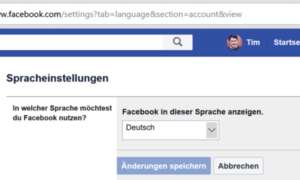 6 Facebook Spracheinstellungen Dropdown