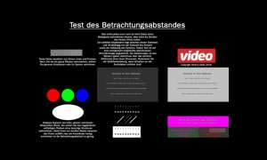 Sehabstand zu Blidschirm video Test Download