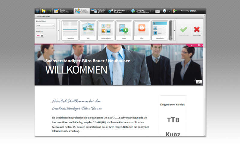 Homepage Design | Webbaukasten Test Telekom Homepage Creator Pc Magazin